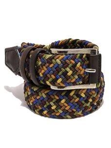Cintura Elasticizzata Uomo Multicolor Contrasti Pelle