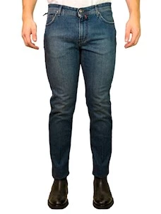 Jeans Denim Scuro Uomo B-Settecento