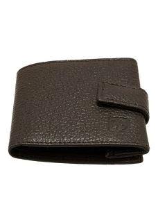 Portamonete in Vera Pelle di Vitello-8x8,5 cm-Made in Italy