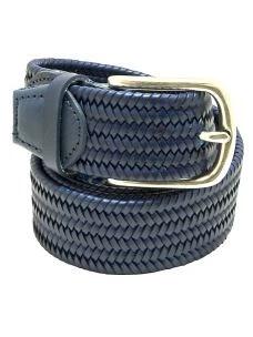 Cintura Uomo Intrecciata e Elasticizzata in Cuoio Rigenerato
