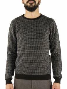 Maglia Girocollo Uomo in lana, Viscosa e Cashmere