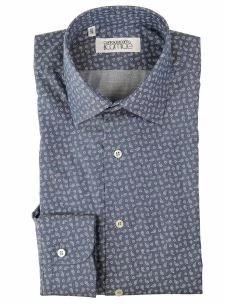 Camicia Classica Sartoriale Uomo Cotone Twill Fantasia Cashmere