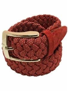 Cintura Elasticizzata-Intrecciata-Fantasia Pois-Made in Italy