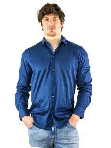 Camicia Uomo jersey in Puro Cotone-Made in Italy
