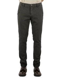 Pantalone Uomo Chino Microfantasia Stretch