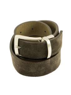 OLD-CREST Cintura Double Face Cuoio e Camoscio Made in Italy
