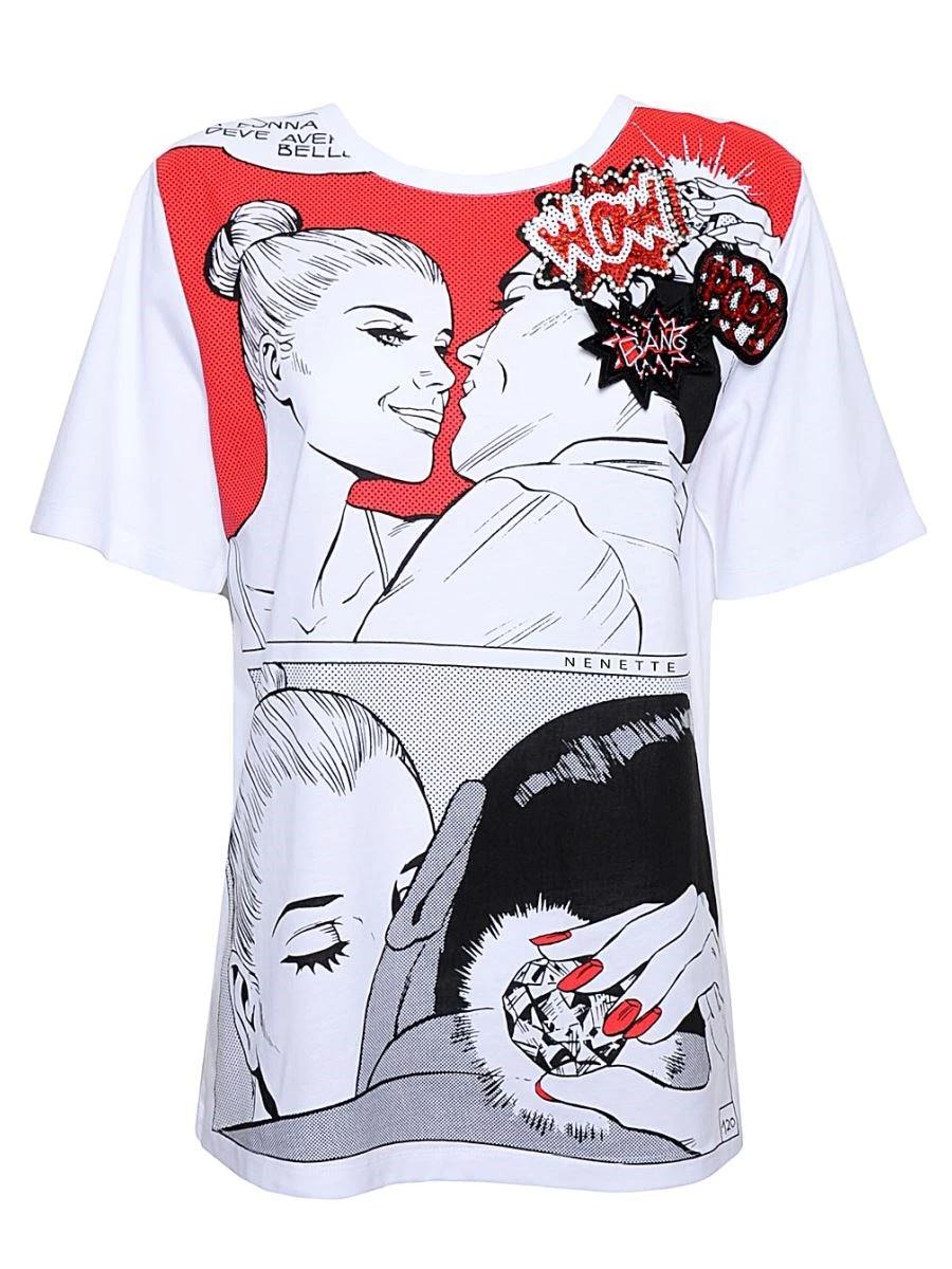 NENETTE T-Shirt Donna - EVA KANT - DIABOLIK  Art. Diamante