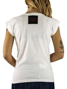 T-Shirt Donna Eva kant Bianca Nera con Albetto Edizione Limitata