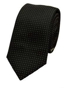 Cravatta Sartoriale Stretta in seta 6 cm nera - Made in Italy