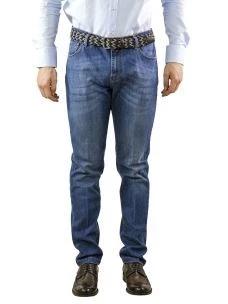 Jeans Uomo B-Settecento Lavaggio Blu Medio-Made in Italy