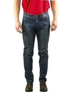 Jeans Uomo B-Settecento Lavaggio Blu scuro-Made in Italy