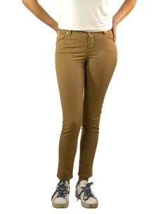 Pantalone Donna Cotone Stretch-Made in Italy