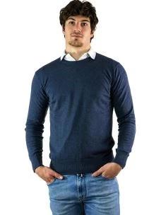 Maglia Uomo Girocollo in Cotone e Cashmere-Made in Italy