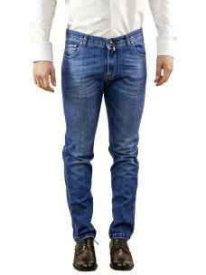 Jeans Uomo B-Settecento Lavaggio Blu Chiaro-Made in Italy