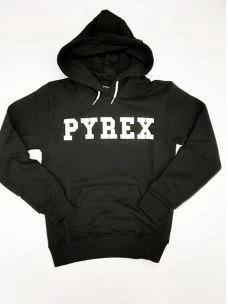 Felpa jr cappuccio Pyrex logo petto