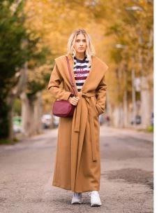 Cappotto cappuccio con cintura