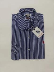 Camicia uomo slim fit rigata U.S.POLO