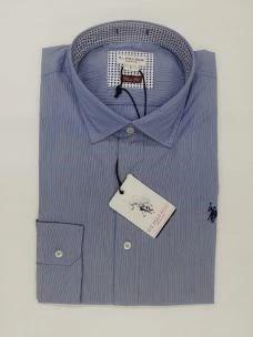 Camicia uomo microriga slim fit U.SPOLO