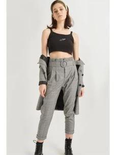 Pantalone peance con cintura pie de poul 24COLOURS