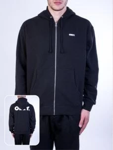 Felpa full zip cappuccio logo OBEY stampa