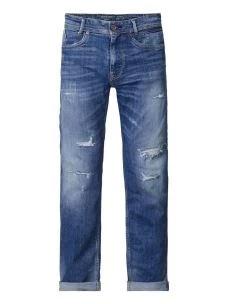 Jeans strappato con toppe PETROL