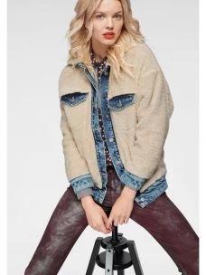 Giacca donna jeans e orsetto PEPE JEANS