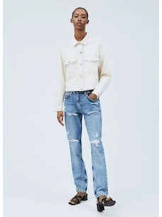 VIOLET jeans strappato donna PEPE JEANS