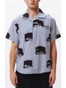 Camicia rigata uomo logo OBEY allover
