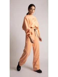 Tuta crop e pantalone palazzo SHIKI