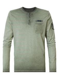 T-shirt manica lunga serafino taschino PETROL