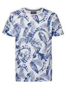T-shirt fiammato fiorata PETROL
