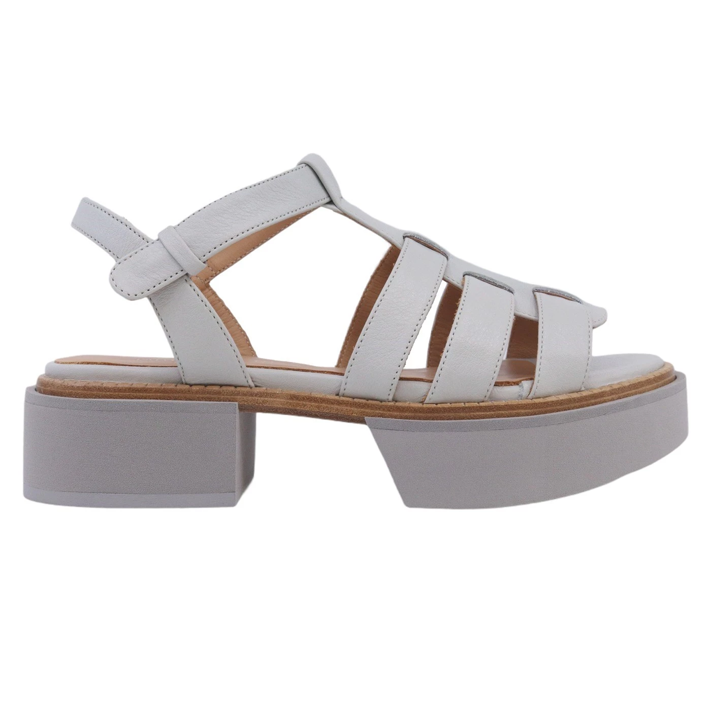 Paloma Barcelo Ivai 2072 sandalo da donna in pelle grigia