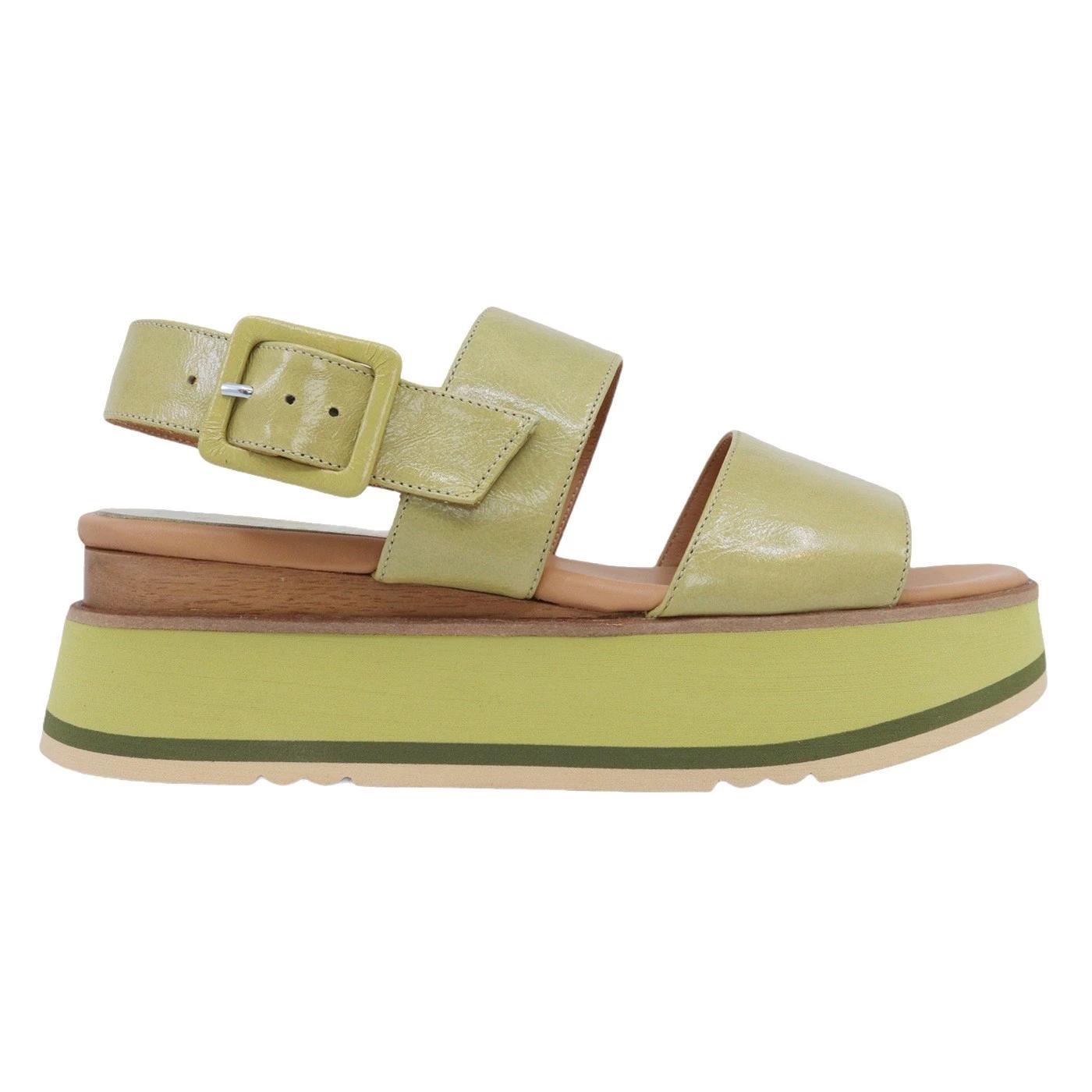 Paloma Barcelo Javari 2078 sandalo da donna in pelle verde