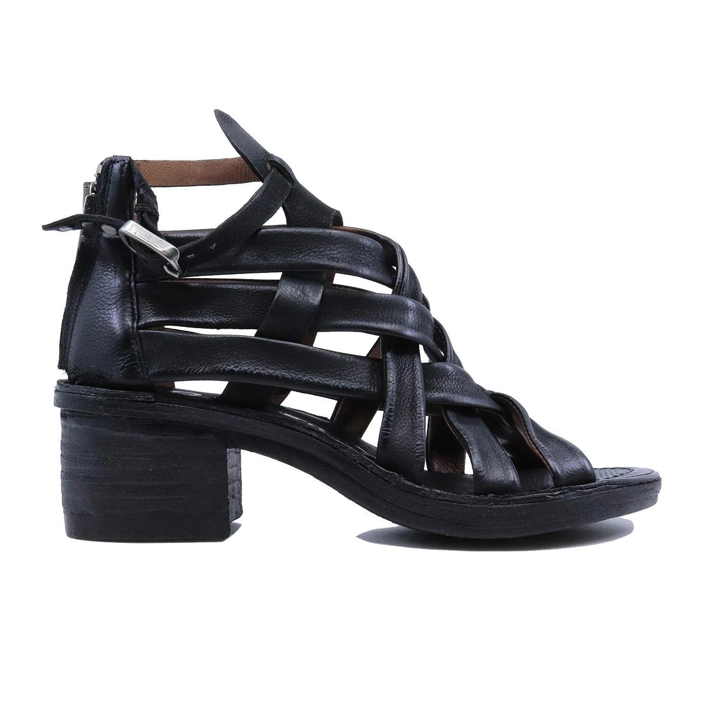 A.S. 98 690033 sandalo da donna in pelle nera
