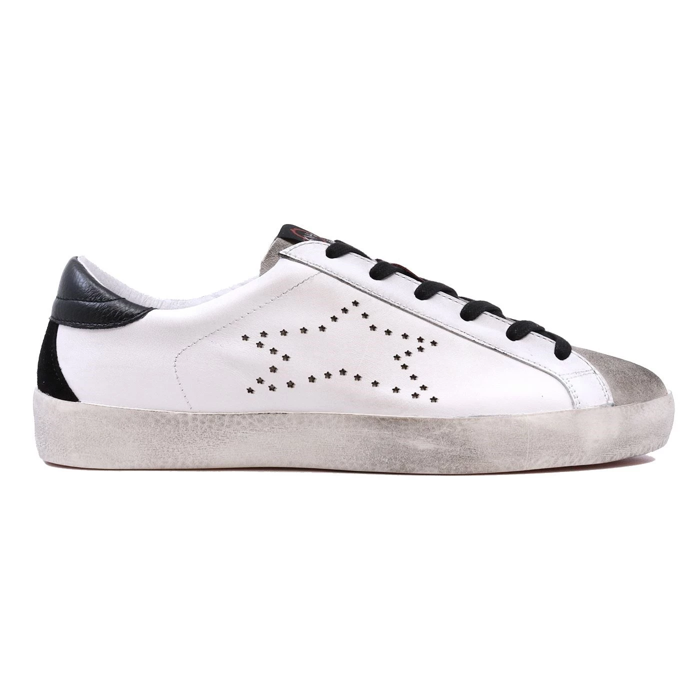 Ishikawa Low 1806 sneaker da uomo in pelle bianca