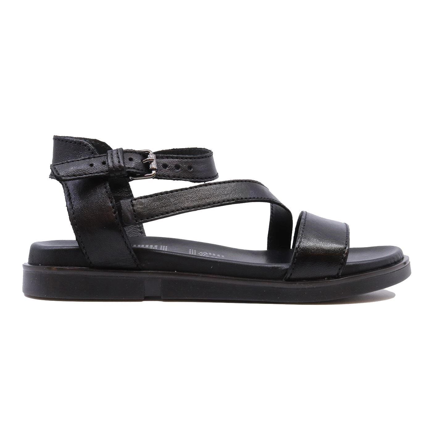 Mjus P07005 sandalo da donna in pelle nera con cintino