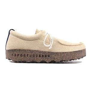 Asportuguesas P018047006 scarpa da uomo in tessuto beige