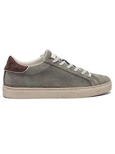 Crime London 11514 sneaker da uomo in camoscio grigio