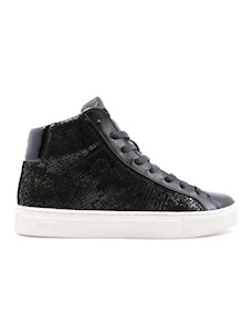 Crime London 25666 sneaker alta da donna in pelle nera