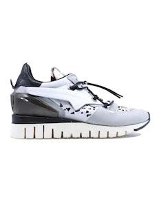 A.S. 98 A13111 sneaker da donna in pelle bianca e nera