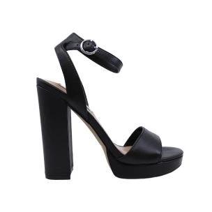 Steve Madden Gesture Black sandalo da donna in pelle nera