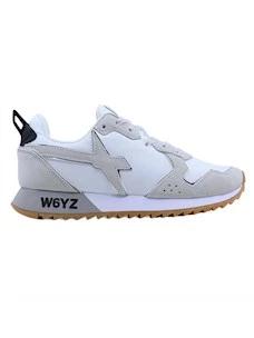 W6YZ Wizz Jet-W sneaker da donna in tessuto bianco grigio