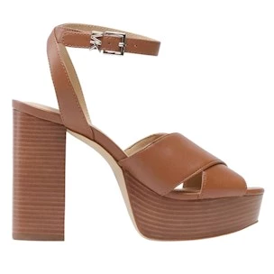 Michael Kors Odette Platform sandalo da donna in pelle cuoio