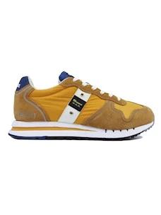 Blauer Quartz 01 sneaker da uomo in tessuto e camoscio giallo