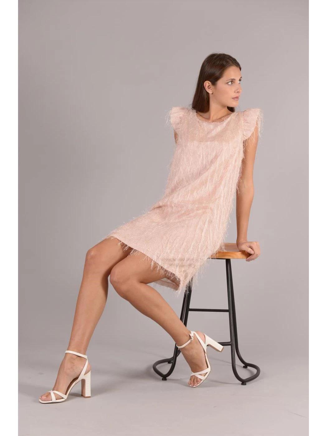 SHORT DRESS WITH FRINGES