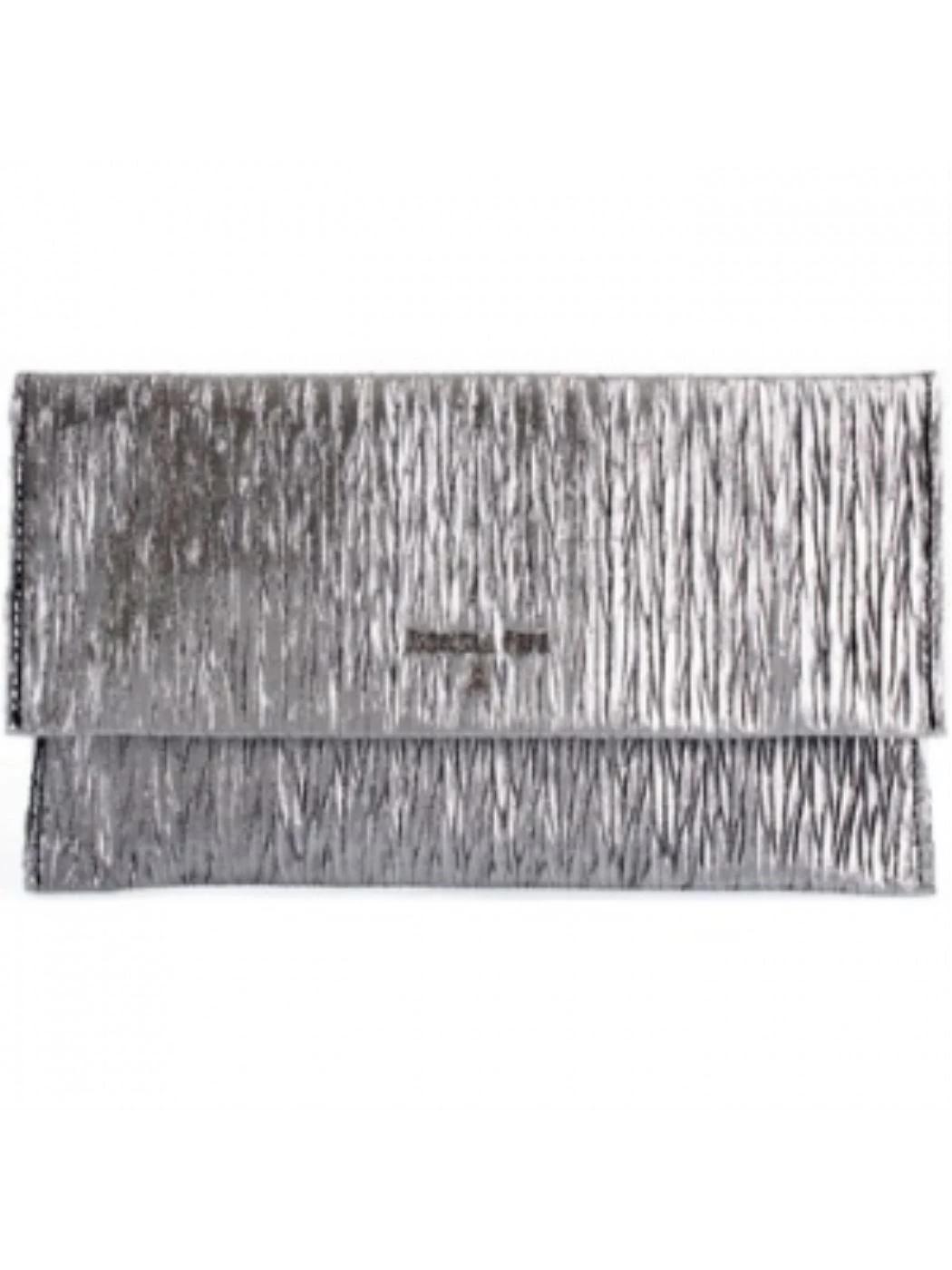 PATRIZIA PEPE Pochette effetto laminato silver 2V5460A6N9
