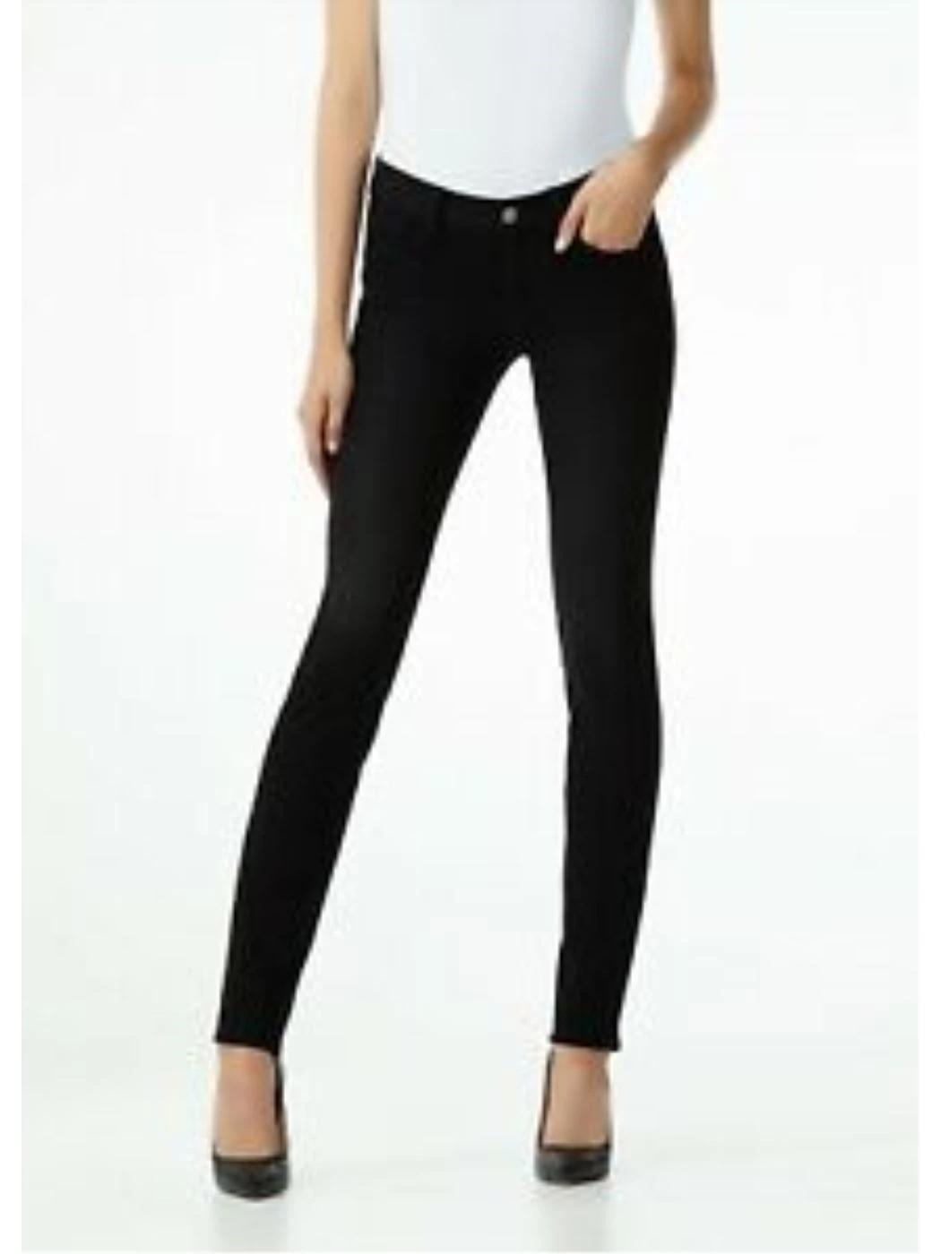 Jeans skinny nero Amazing Fit a vita alta UXX037D4199