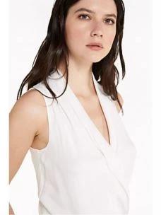 Top body bianco in crêpe de chine 2C0901AV35