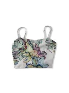 Top bustier con stampa flower 2M3920A7E0