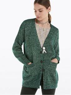 PATRIZIA PEPE -Cardigan in lana,cotone e lurex- 8J0897A5G0-2